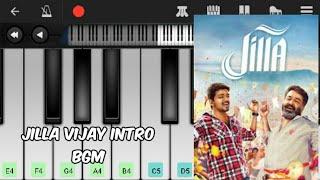Jilla Vijay intro bgm ll cover by the perfect pianist