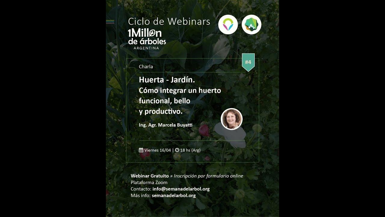 Disfruta del ultimo webinar: Huerta-Jardín. Imperdible!