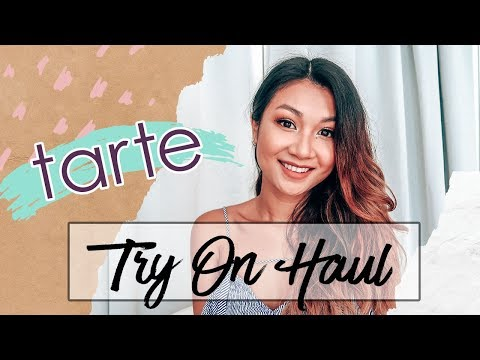 TARTE TRY-ON MAKEUP HAUL - Tartelette Toasted Easy Eyeshadow Look, Maracuja Oil | Karen Lin