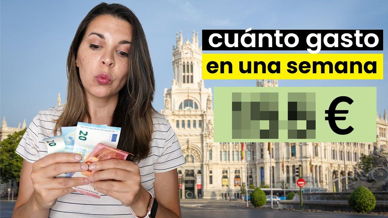 Cuanto GASTO en una SEMANA de vivir en MADRID