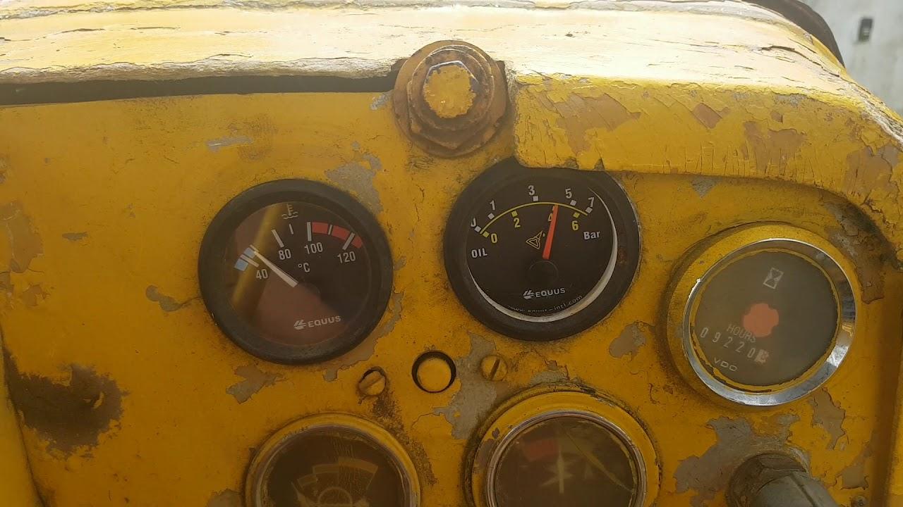 Caterpillar D6c bulldozer startup oil pressure