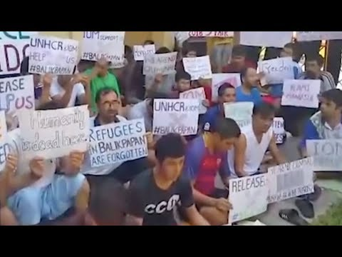 Afghan Refugees Continue Daily Protest at Balikpapan Detention Center in Indonesia