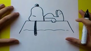 Como dibujar a Snoopy paso a paso 2 | How to draw Snoopy 2