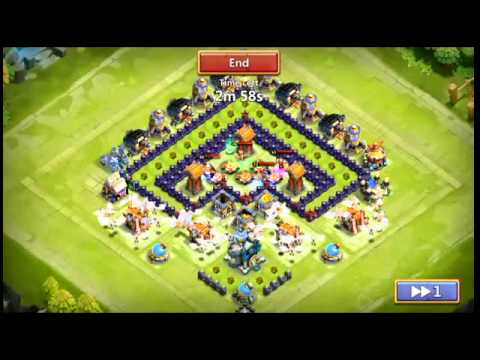 Best Defensive Base For Castle Clash TH 11-13!