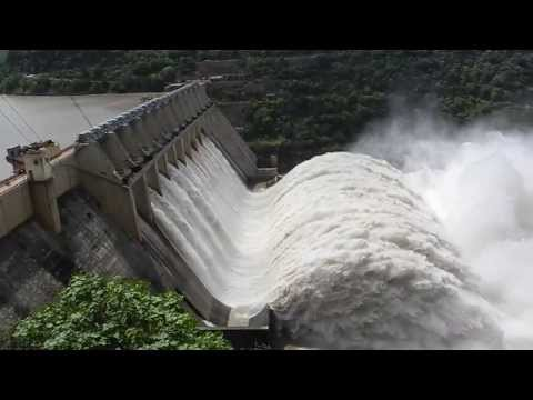 Srisailam Dam - Eight Gates open - 2013