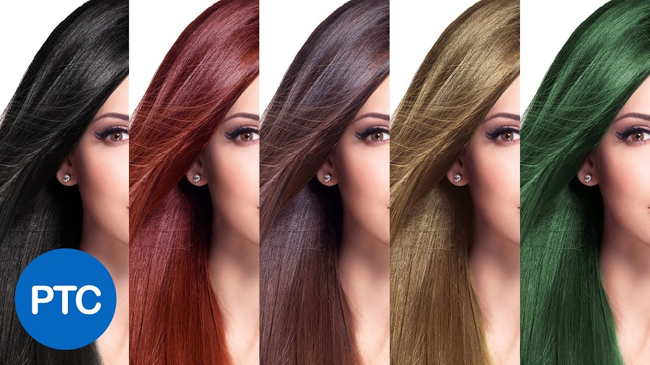 How To Change Hair Color In Photoshop Including Black Hair To