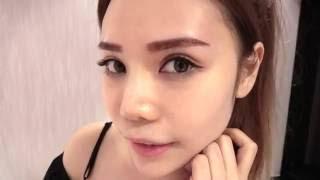 藝人Jojo Li 李海清 明星立體粉黛眉 完成後的即時效果