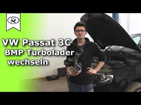 VW Passat 3C BMP Turbolader wechseln ( Ausbauen ) | Change turbocharger  |  VitjaWolf | Tutorial