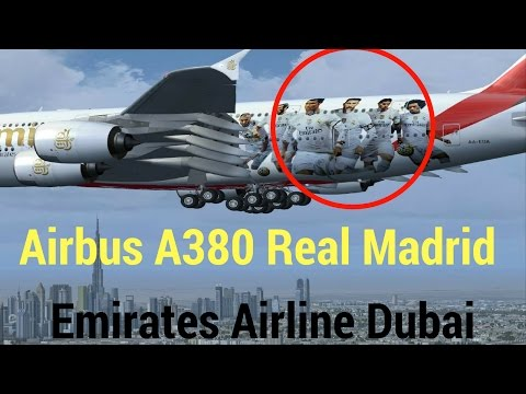 Airbus a380 Real Madrid Dubai | Emirates Airline | Dubai to Madrid Bound