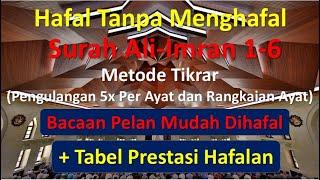 Download Hafal Tanpa Menghafal Surah Ali-Imran Ayat 1 - 6 | Metode Tikrar (Pengulangan)