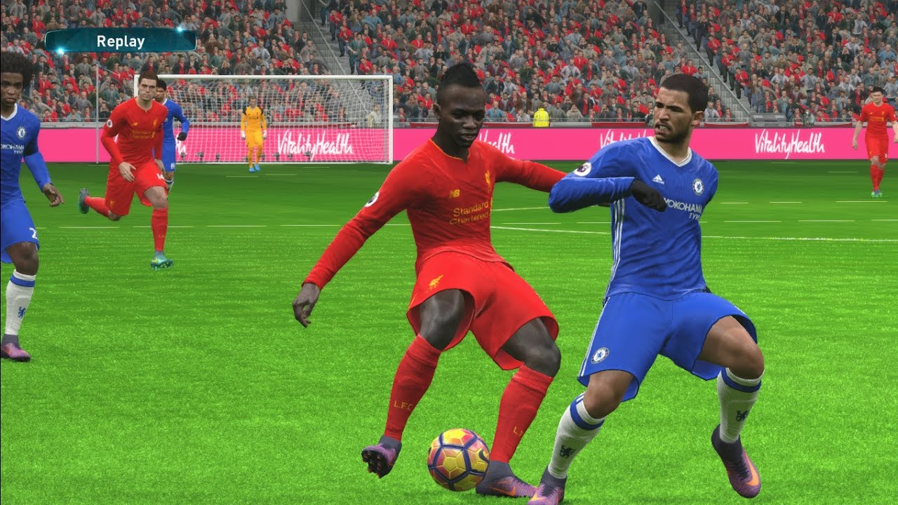Liverpool Vs Chelsea Premier League 2016 2017 Pes 2017 Gameplay Youtube