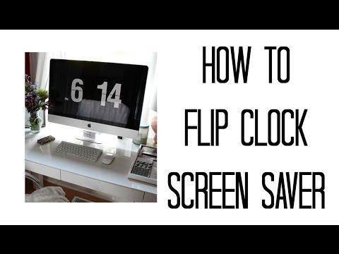HOW TO FLIP CLOCK SCREENSAVER   MAC   WINDOWS   JULIE MIRANDA - YouTube