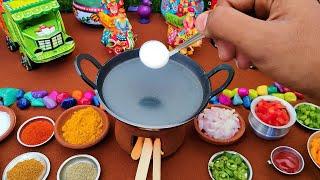 Miniature Neer Dosa + Tomoto Chutney  Miniature Cooking  Easy Breakfast Recipe  Mini Food