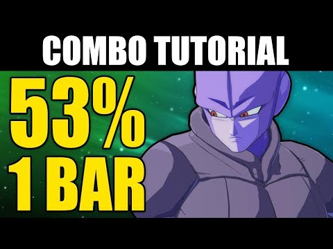 Dragon Ball FighterZ  HIT 53% Combo Tutorial  1 Bar!