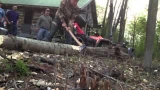Time lapse Chopping Log