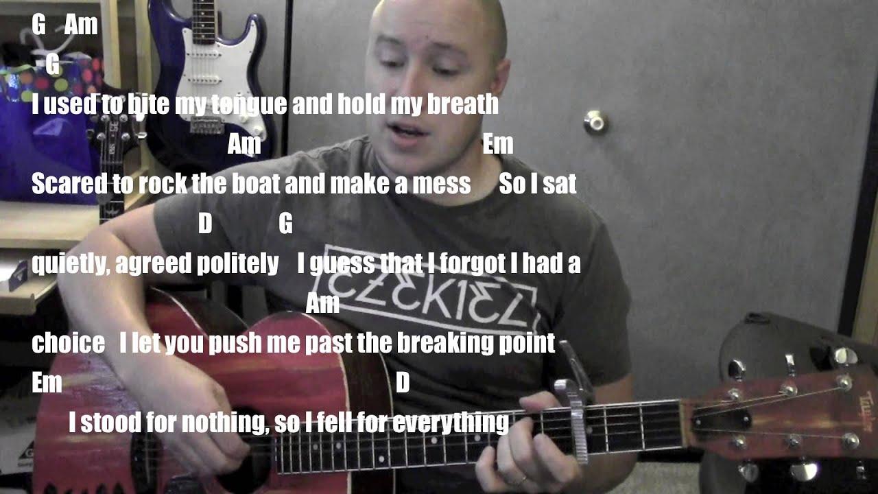Roar Guitar Lesson Tutorial Standard Chord Version Katy Perry