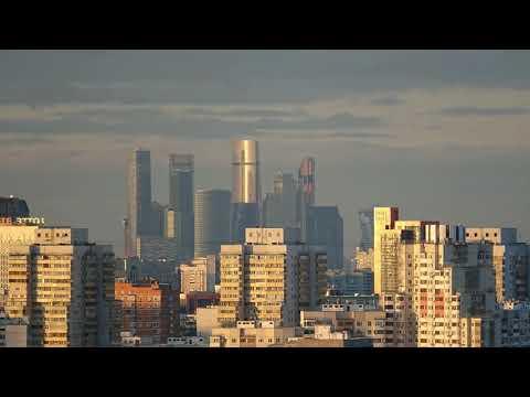 Заглянем в каждое окошко! Сити и Газпром из Ясенево! Мандариновый закат