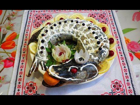 Щука фаршированная / Щука фарширована, запечена в духовці/ Классический рецепт фаршированной щуки.