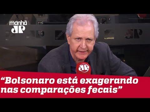 Augusto Nunes: Bolsonaro está exagerando nas comparações fecais