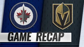 Smith, Karlsson propel Golden Knights past Jets