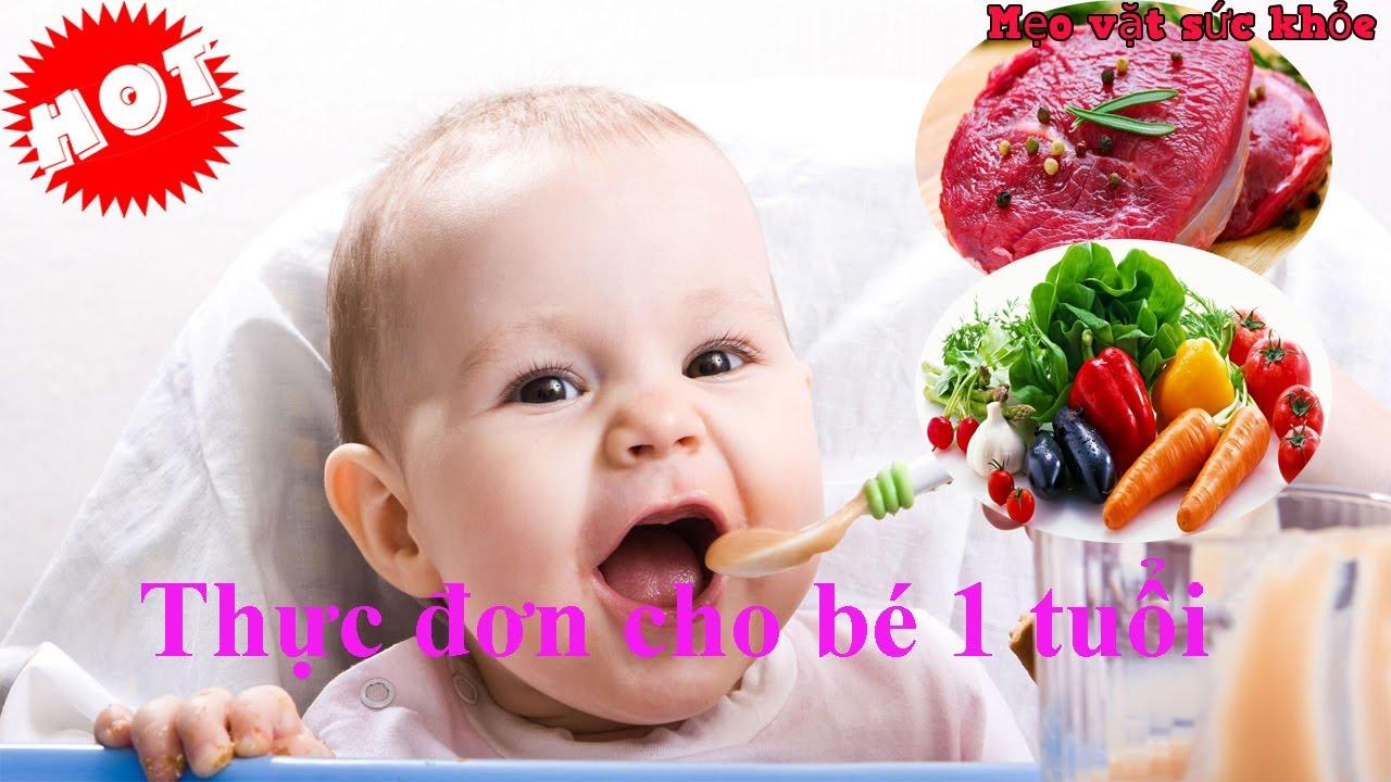 Thực đơn chuẩn cho bé 1 tuổi cực giàu dinh dưỡng các mẹ cần biết