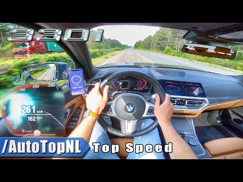 BMW 3 Series G20 330i AUTOBAHN POV 261KM/H | 161MPH TOP SPEED by AutoTopNL