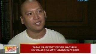 UB: Tapat na jeepney driver, nagsauli ng wallet na may halagang P10,000