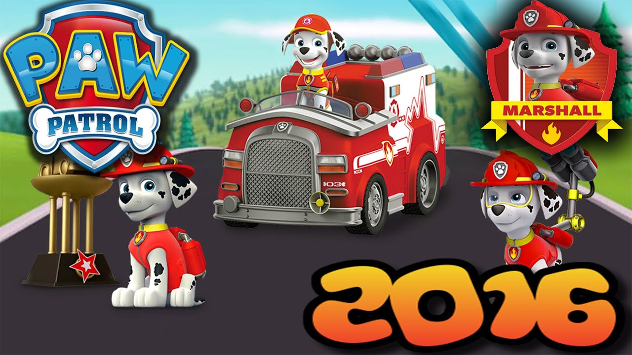 Paw Patrol Marshall Fire Truck 2016 Coloring Page For Kids