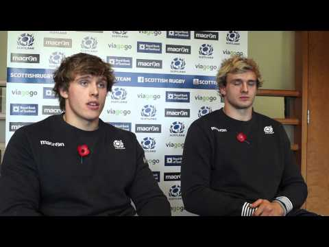 Richie and Jonny Gray on playing for Scotland agai...