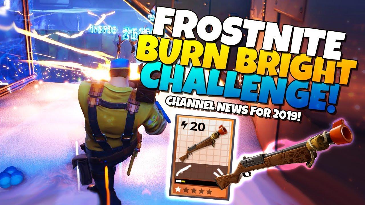 Frostnite Week 2 Challenge 2019 Channel Ideas Fortnite Stw Youtube