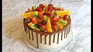 видео Бисквитный торт с ягодами