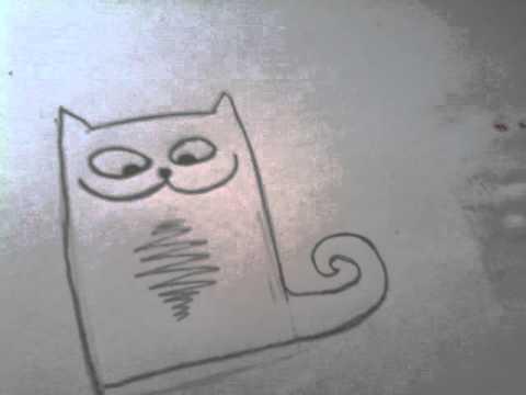Нарисовать прикольного кота картинки
