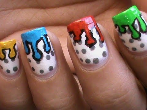 Dripping Paint Nail Polish Designs For Kids Youtube