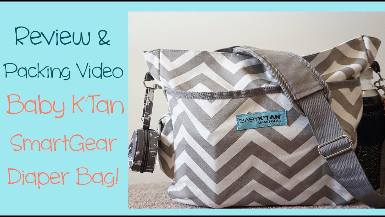 85e00a9dab Review & Packing Video: NEW Baby K'Tan SmartGear Diaper Bag! - YouTube