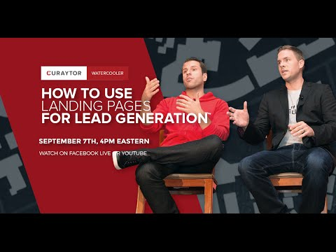How to Use Landing Pages for Lead Generation #WaterCooler