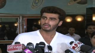 Arjun Kapoor At Gaiety Cinema For 2 States