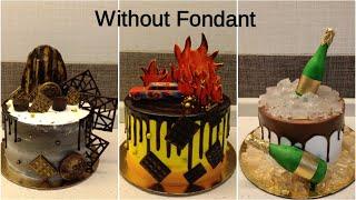 Birthday Cake ideas for men | 18+ birthday cake compilation | without fondant | cake for men