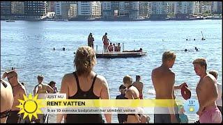 Vattnet vid badplatser i Sverige får högsta betyg  - Nyhetsmorgon (TV4)