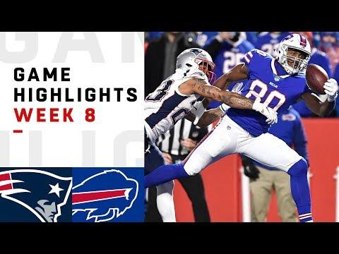 Patriots vs. Bills Week 8 Highlights | NFL 2018