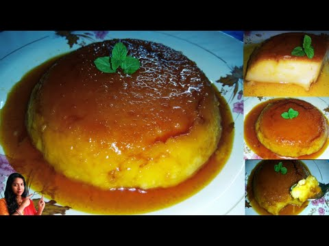 caramel-bread-pudding|eggless-&-without-oven-&-without-custard-powder|3-ingredients-easy-recipe