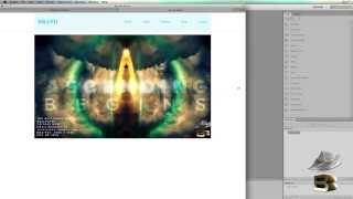 How to create full width header fixed width content website with image slider in adobe dreamweaver