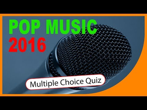 Q★ | Pop Music 2016 Quiz | MULTIPLE CHOICE QUIZ | Q-Star Quiz Channel