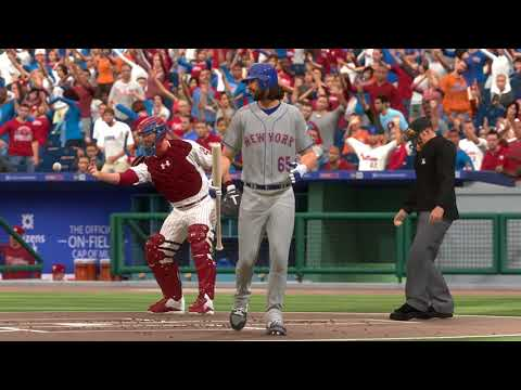 MLB17: The Show. (PS4 Pro) Season Mode (Mets). Game 114. Mets @ Phillies. Gsellman vs. Hellickson