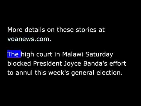VOA news for Sunday, May 25th, 2014