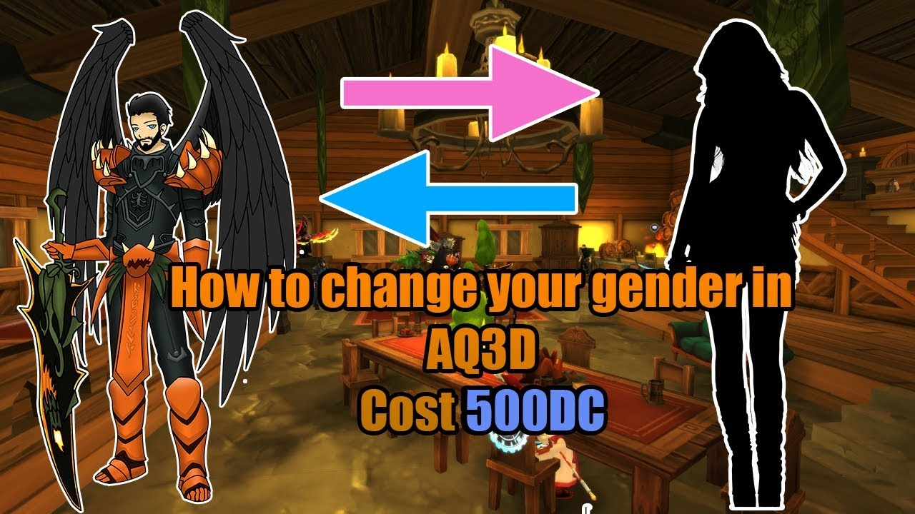 AQ3D: How to change your gender! Cost 500DC