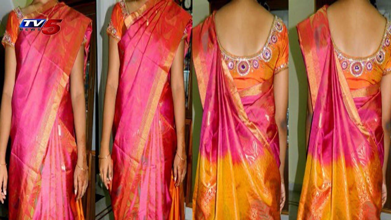 bf46b14b34 Uppada Pattu Pink Colour Saree | Snehita : TV5 News - YouTube