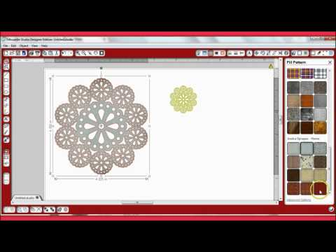 Convert PNG and JPEG doilies to Silhouette...