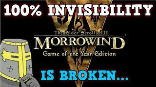 ELDER SCROLLS MORROWIND Is A Perfectly Balanced Game With No Exploits - Excluding Invisibility Only