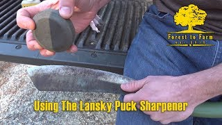 Using The Lansky Puck Sharpener