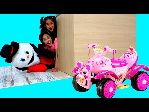 Esma and Asya Magic Frozen toy Tricycle fun kid video